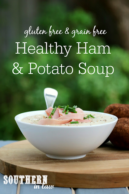 Easy Creamy Ham and Potato Soup – healthy, gluten free, grain free, dairy free, clean eating recipe