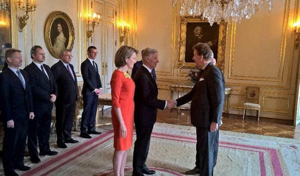 King Philippe And Queen Mathilde Held A Royal Reception