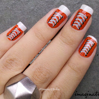 Unhas Decoradas - All Star Laranja