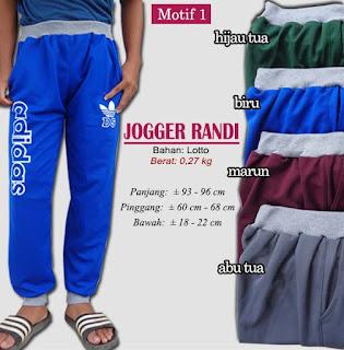 Jogger sport model terbaru - randi motif 1