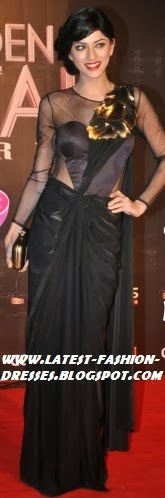 BLACK COLOUR NEW LOOK SAREE STYLE
