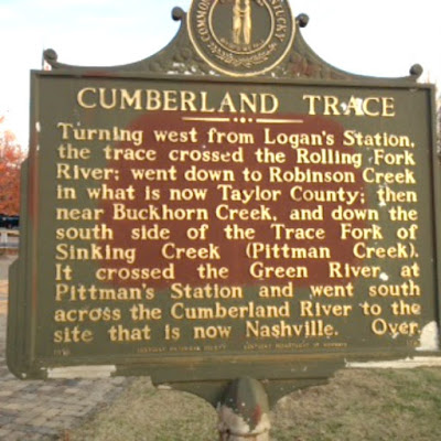 Cumberland Trace Historical Marker in Campbellsville Kentucky
