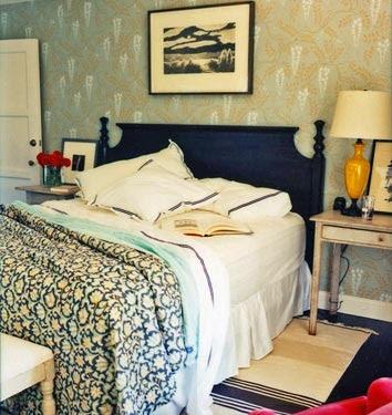 Boho chic bedroom of Amanda Peet