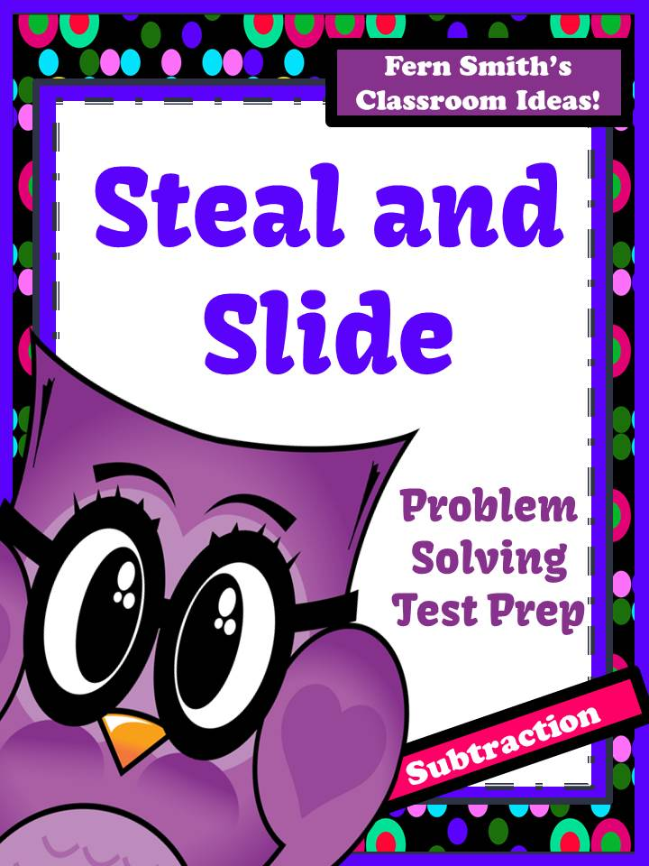 Fern Smith's FREE Steal and Slide Test Prep Presentation and Printable - Subtraction