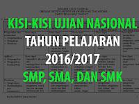 Download Kisi Kisi UN 2016/2017 SMP SMA dan SMK