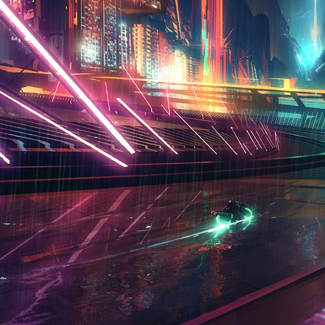 Cyberpunk Motorway Wallpaper Engine