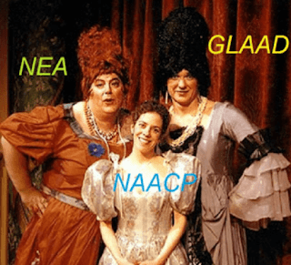 The social justice groups NEA, NAACP and GLAAD are submissive bottoms..
