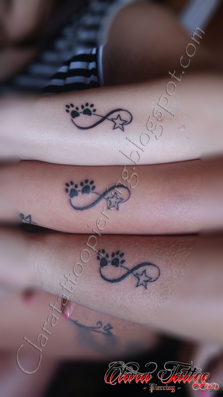 Clara Tattoo Piercing Tatto Iniciales E Infinitos Con Huellas