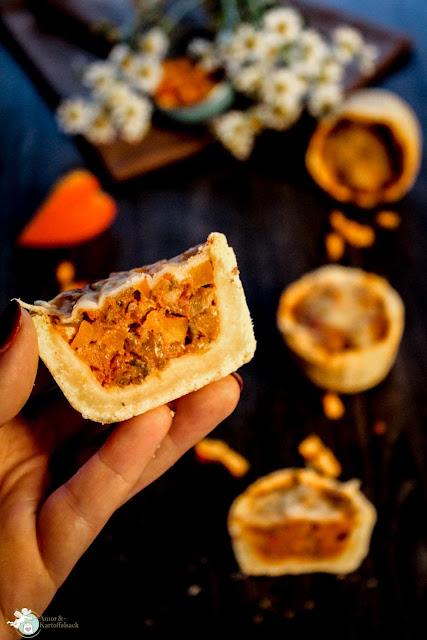Kürbisküchlein mit Hackfleisch Halloween Muffin