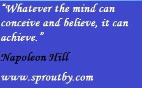 whatever the mind can conceive and believe, it can achieve #NapoleonHill NapoleonHillQuotes