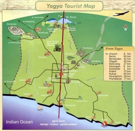 Lokasi dan Rute Tugu Yogyakarta