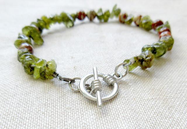 Peridot science chemistry sciart Avogadro bracelet