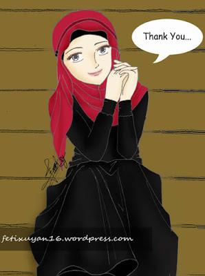 koleksi kartun muslimah terbaru
