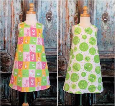 GypsySpoonful Reversible Two in One Dr. Seuss Aline dress by That's So Addie. Ready to ship size 4T