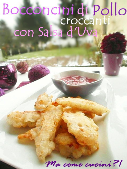 pollo croccante con salsa all'uva