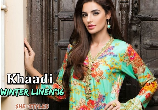 149d54f4ea6 Khaadi Linen Winter Collection 2015-2016