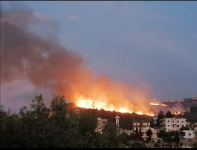 لبنان يحترق, الازمة خارج السيطرة, جامعة رفيق الحريرى, حرائق تثير الرعب, مدينة المشرف, لحظات مؤلمة,