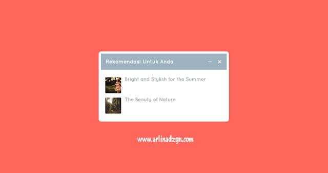 Cara Memasang Slide Box Rekomendasi di Blog