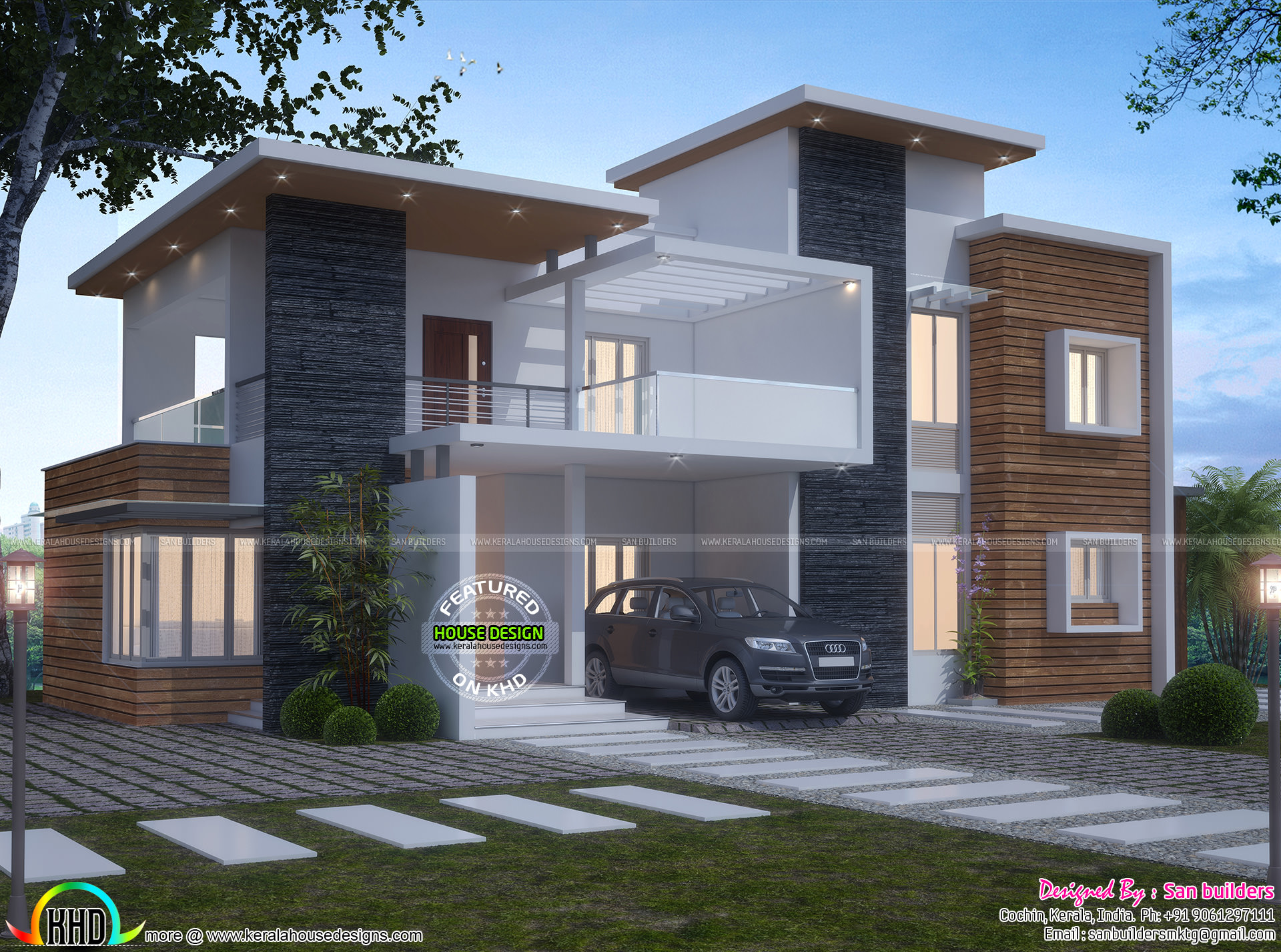 Contemporary 4 bedroom 2650 sq ft kerala home design and for 4 bedroom