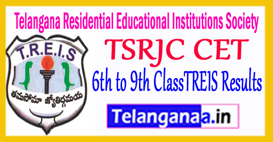 TSRJC CET 2017 TREIS Results Telangana Residential Educational Institutions Society Results
