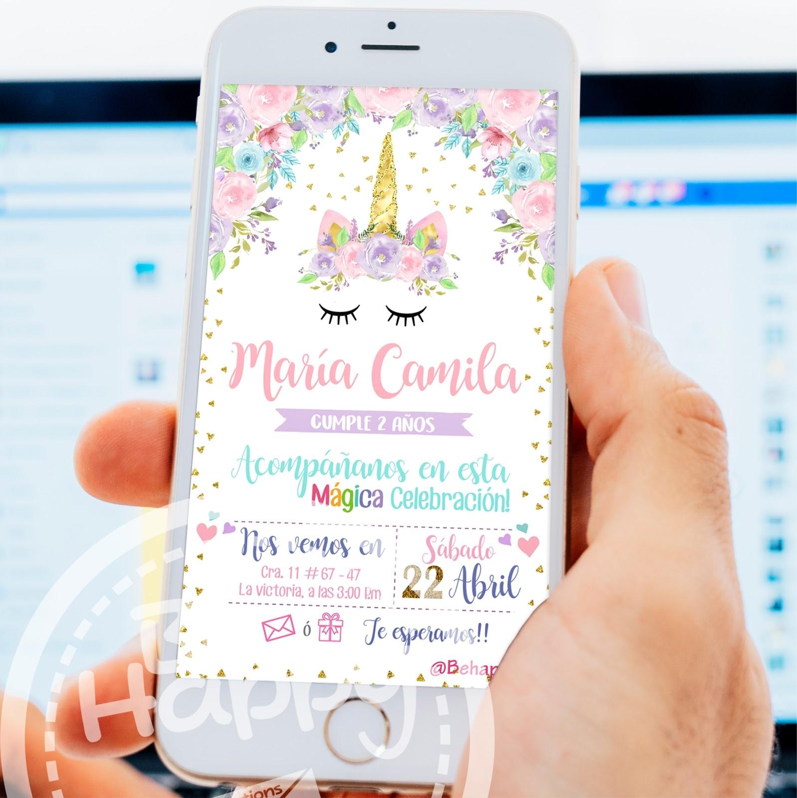 Be happy tarjetas de invitaci n cumplea os - Invitacion para cumpleanos ...