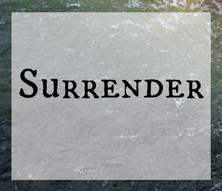 devotion control surrender Christian short reading devo about trusting God