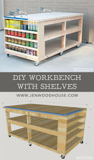 How to build a DIY workbench with shelves