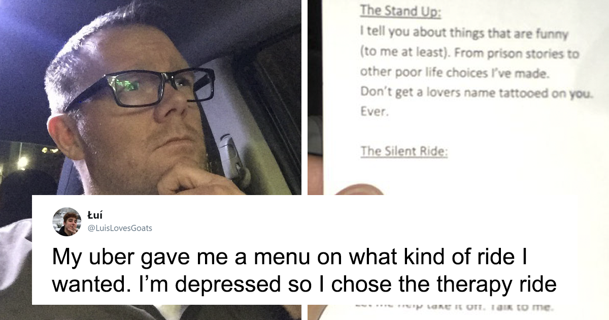Amazing Uber Driver Offers Passengers A Menu Of Five Different Ride Types They Can Select From