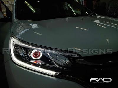 modifikasi lampu depan mobil honda crv turbo 2016