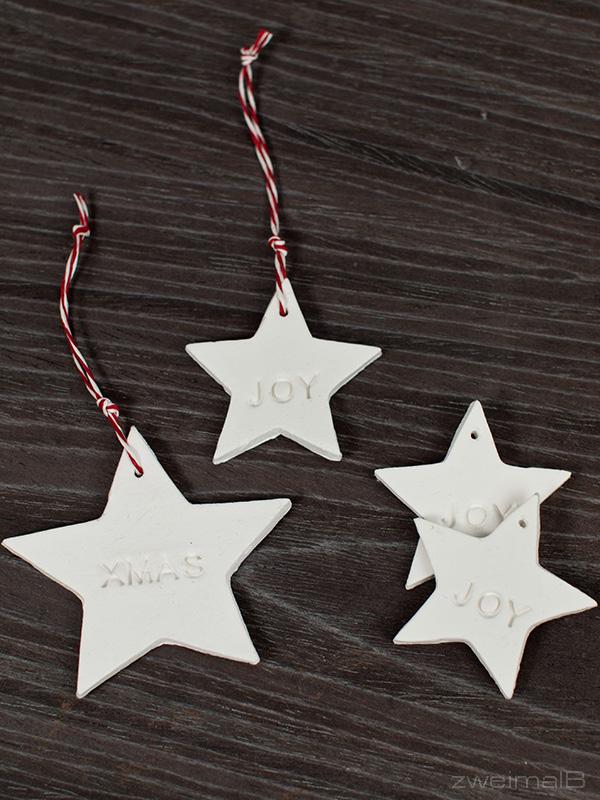 :: zweimalB :: DIY - Anleitung für Geschenke - Anhänger aus selbsthärtender weißer Modelliermasse