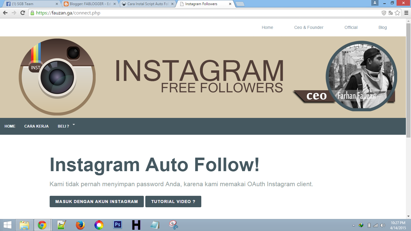Download Script Instagram Followers | Flash Tekno