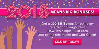 2018 Swagbucks Bonus with abitosunshine
