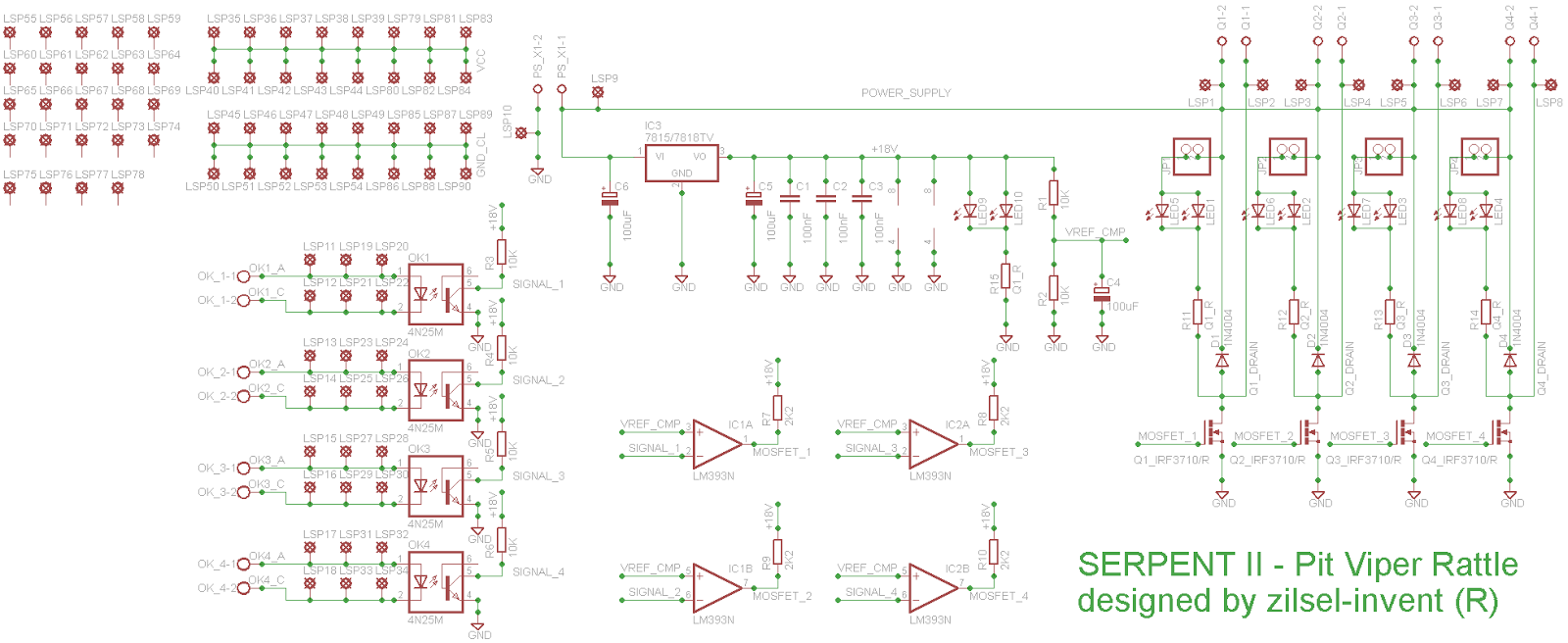 Serpent Ii Pit Viper Rattle Dc Motor Controller Diagram Repalcement Parts And