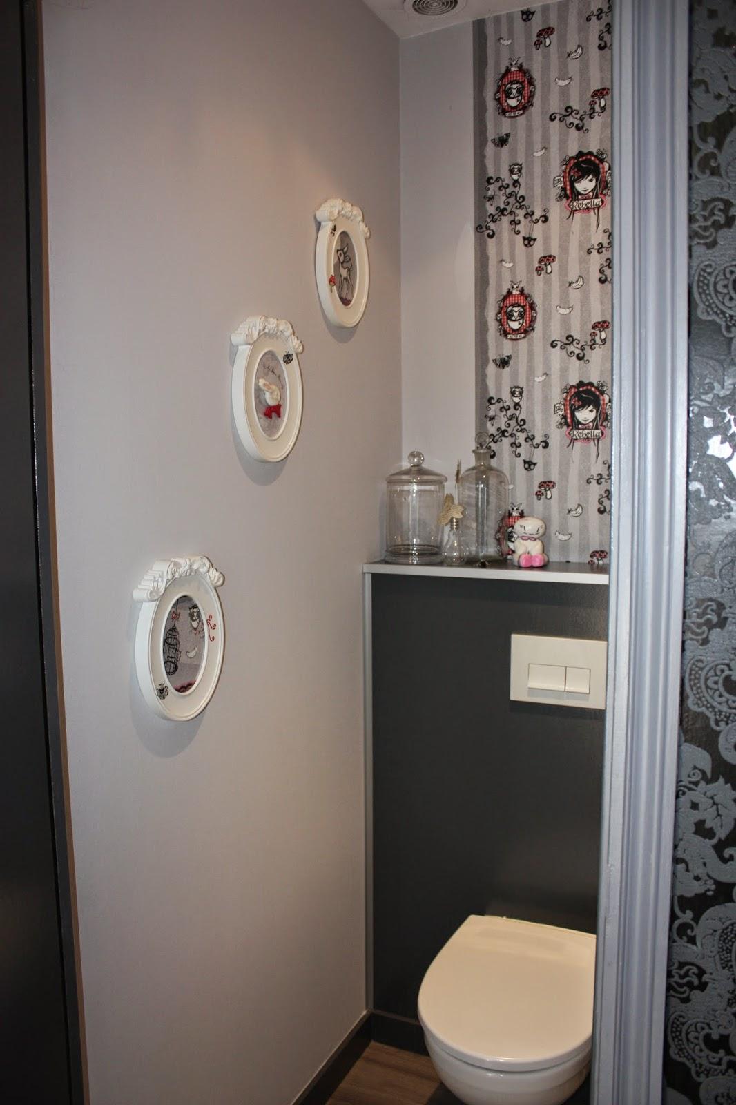 papier peint pour toilette. Black Bedroom Furniture Sets. Home Design Ideas