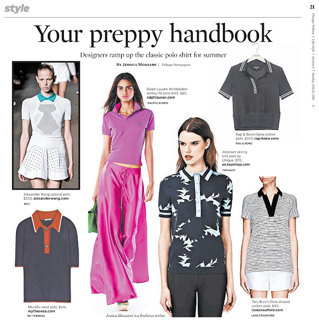 Polo shirts 2015 trend featured in Chicago Tribune