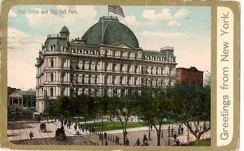 The Rarely Photographed Rear Facade Facing City Hall Park    Authoru0027s  Collection