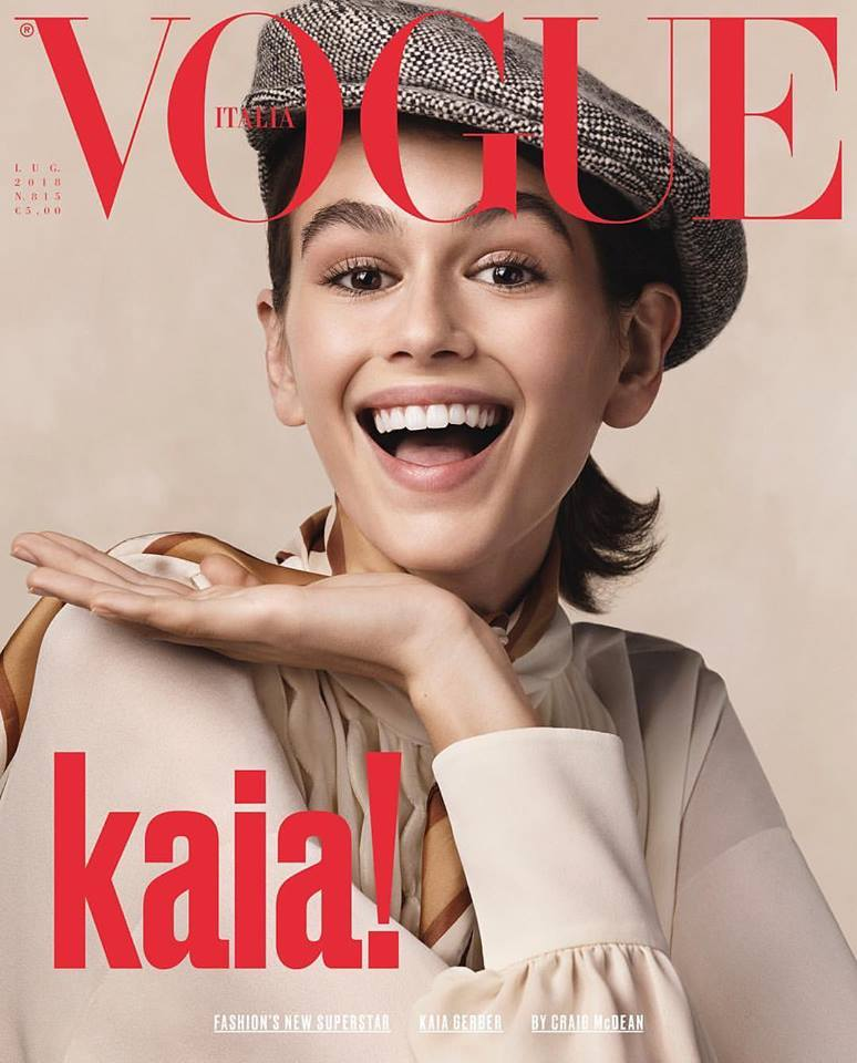 Kaia Gerber covers Vogue Italia July 2018