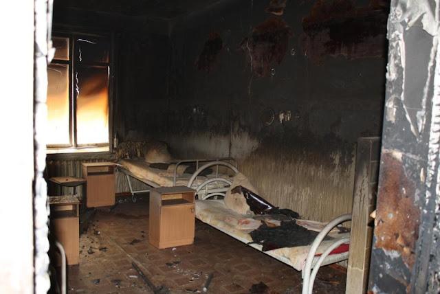 В Республиканской клинической больнице имени Куватова произошло возгорание