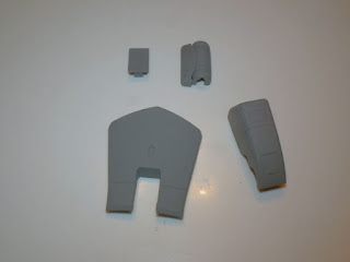Front & rear armour primed