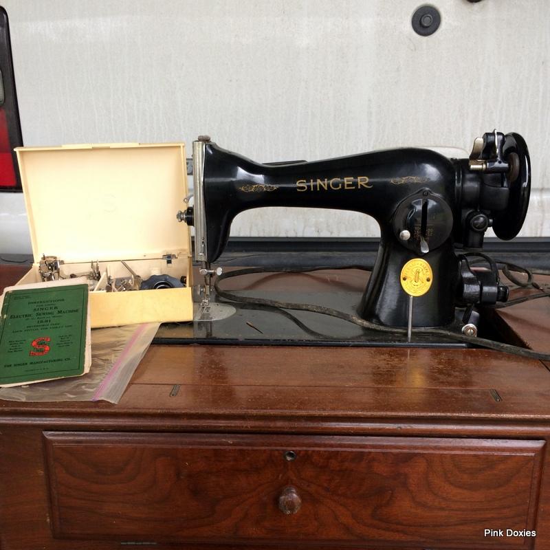 Pink Doxies Vintage Singer 4040 Rescue Revitalization Enchanting Singer 1591 Sewing Machine