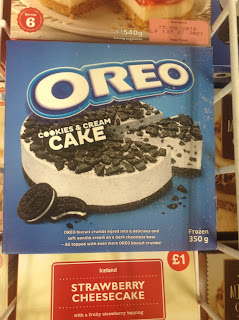 oreo cookies and cream cake iceland