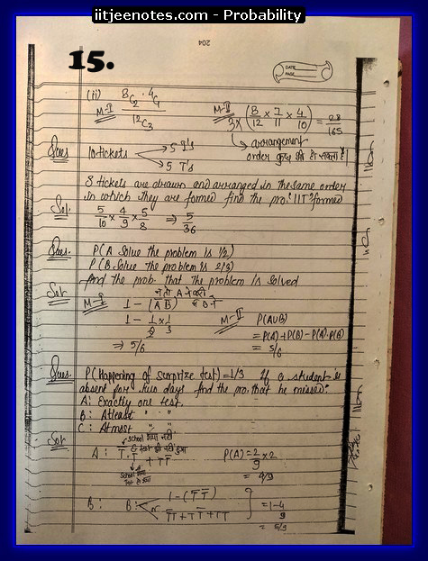probability notes cbse5