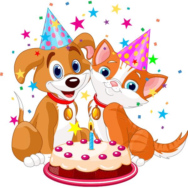 Birthday Puppy and Kitty