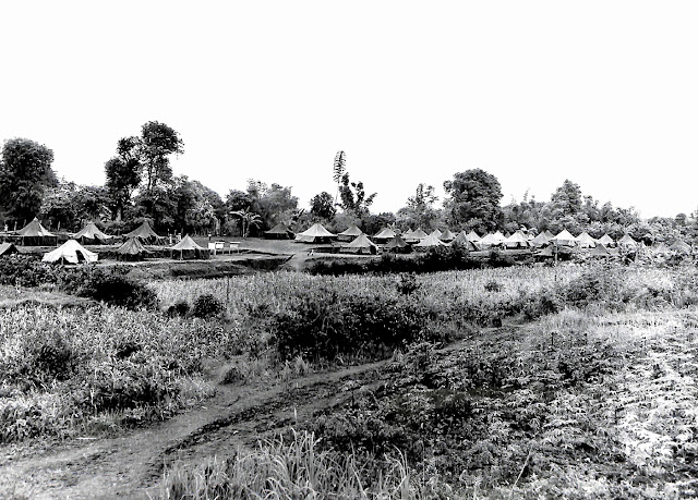 The 237th station hospital area at Base R, Batangas, Batangas, Luzon, P.I. Taken 10 July 1945.