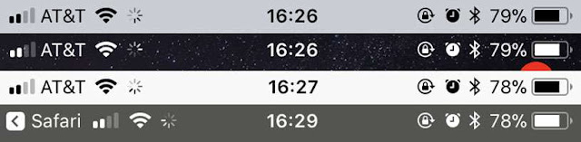 Remove iPhone constant spinning wheel at status bar