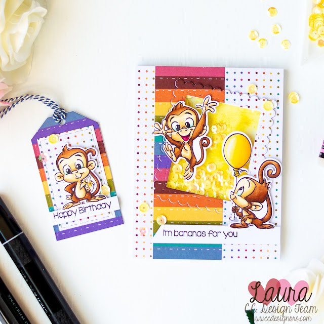 Easy Shaker Card with Matching Tag - C.C. Design Monkeys