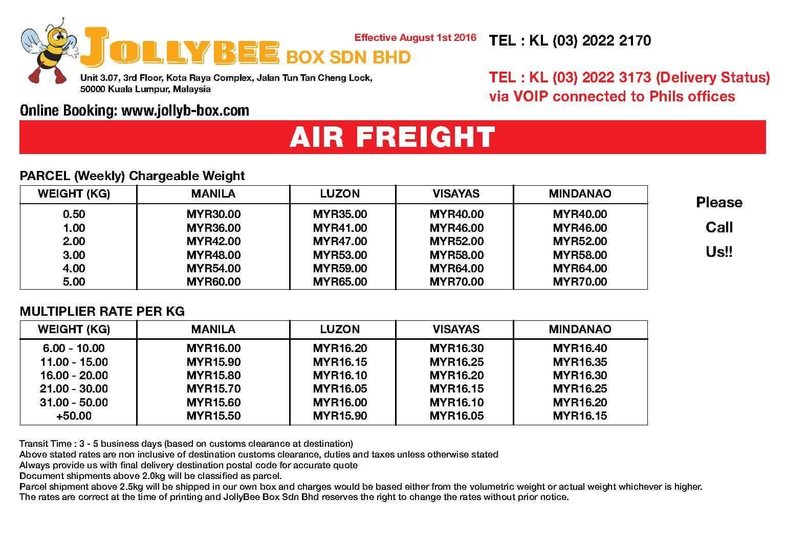 Malaysia Balikbayan Box: JOLLY BEE BOX