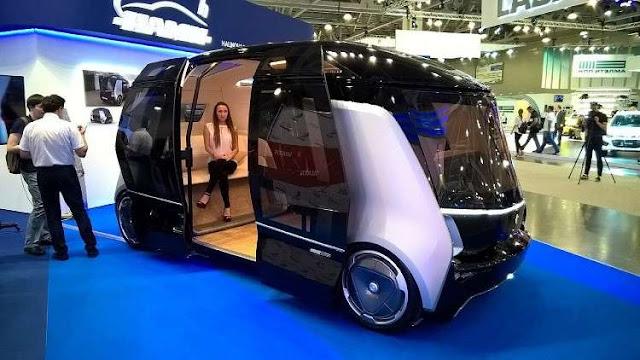بالفيديو شركة روسية تستعرض حافلات متطورة ذاتية القيادة ؟