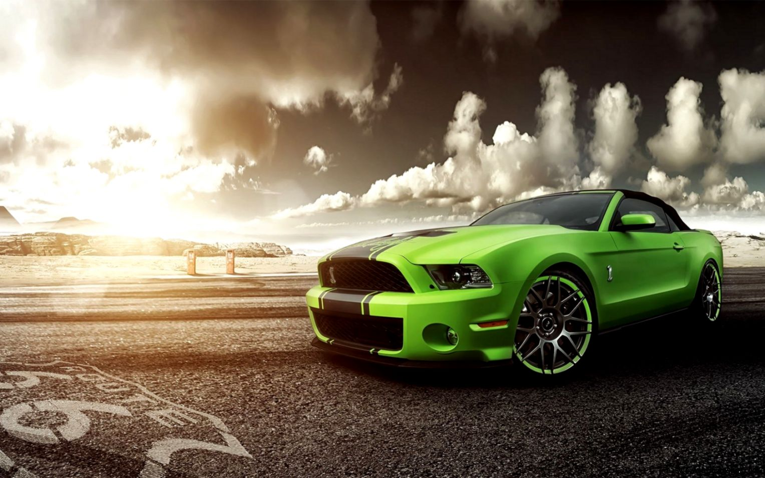 Green 1967 Ford Mustang Shelby Gt500 Wallpaper | View ...