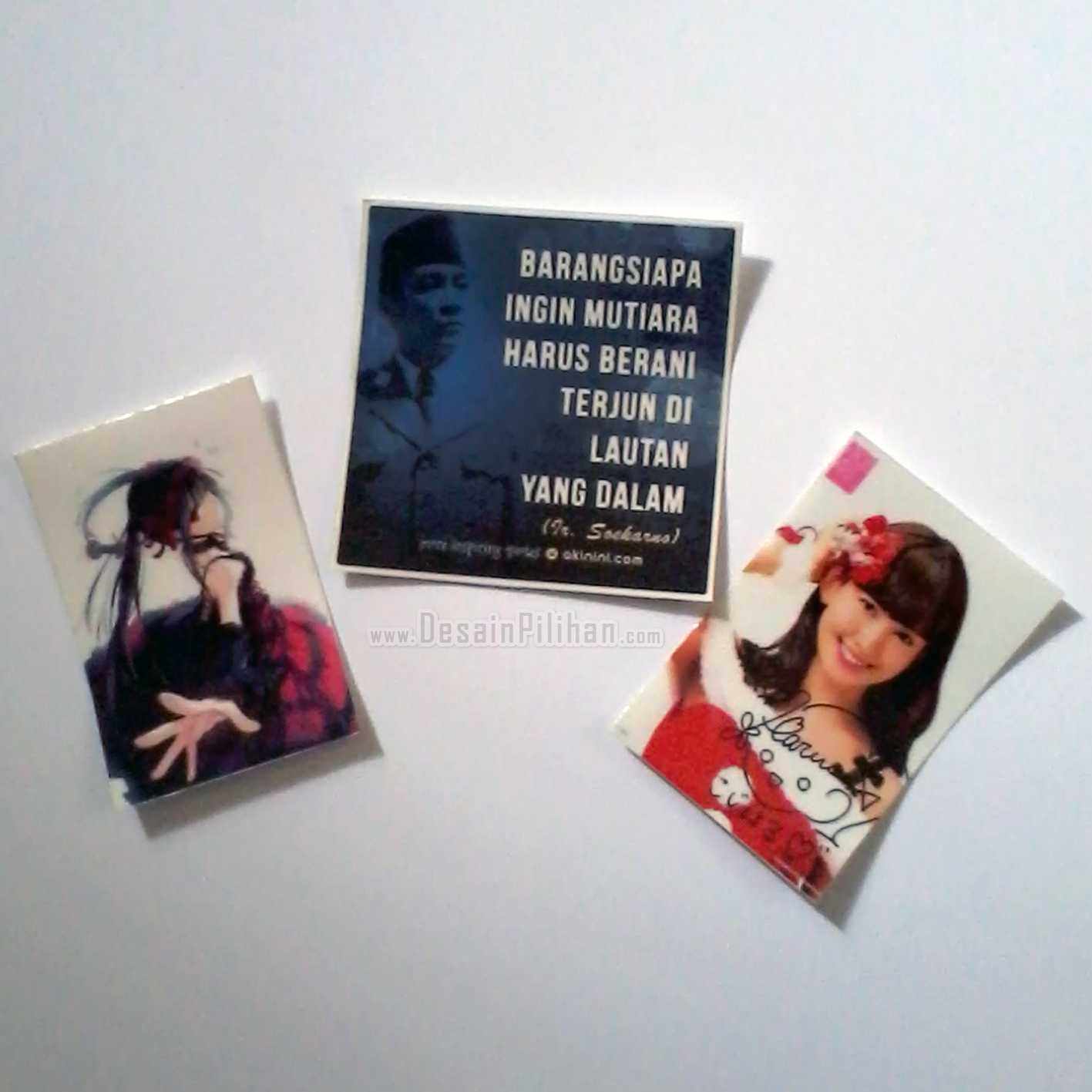 STICKER CUSTOM, STICKER HARUKA JKT48, STICKER AIKATSU, STICKER BUNG KARNO, STICKER QUOTE